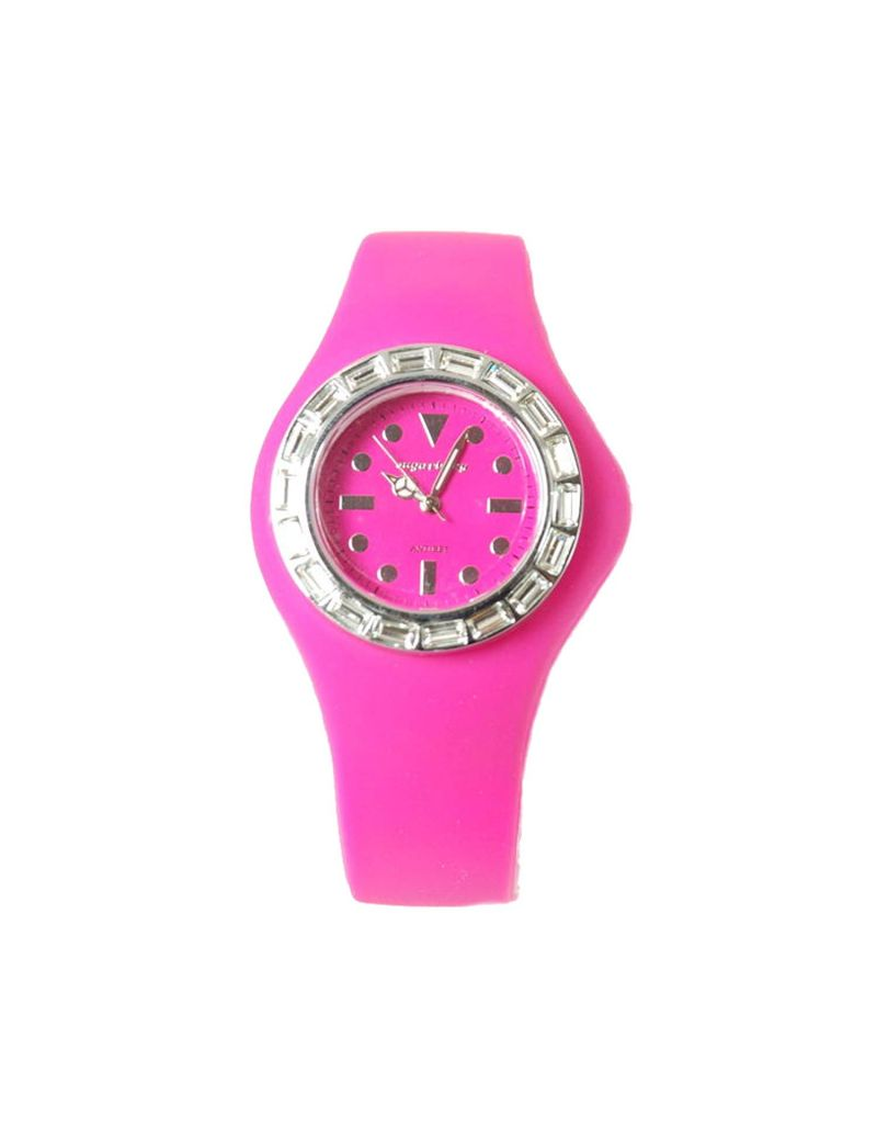 Sugarbaby Antibes Pink Silicone Strap CZ Ladies Fashion Watch SB018