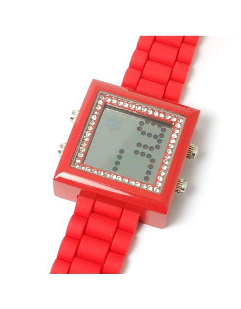 Sugarbaby Ruby Red Silicone Strap Ladies Digital Watch SB009