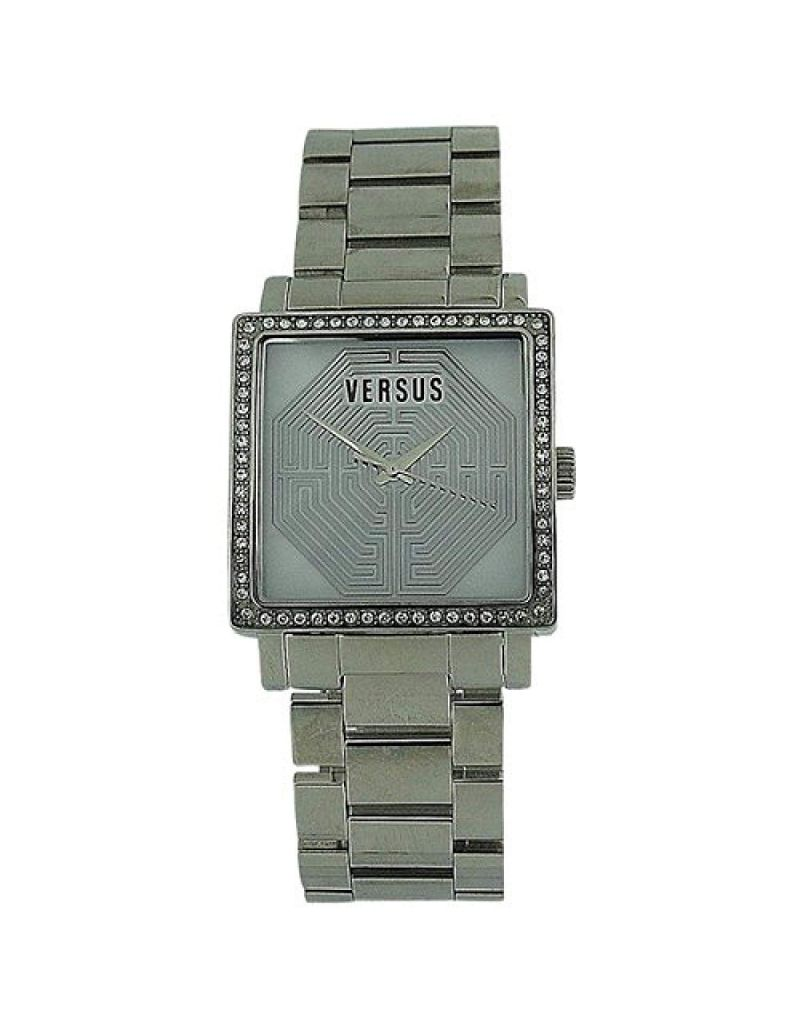 Versace Ladies Dazzle Crystal Bezel All Stainless Steel Watch AL12SBQ9F01-A099