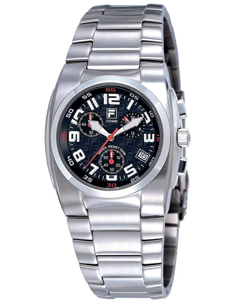 Fila Combi Chronograph Gents All Stainless Steel Sports Watch FA0500-61