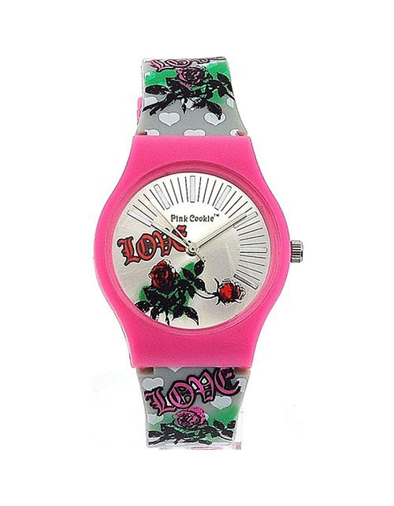 Pink Cookie Ladies-Girls Analogue Silver Dial and Silver PU Strap Watch PLC-0023