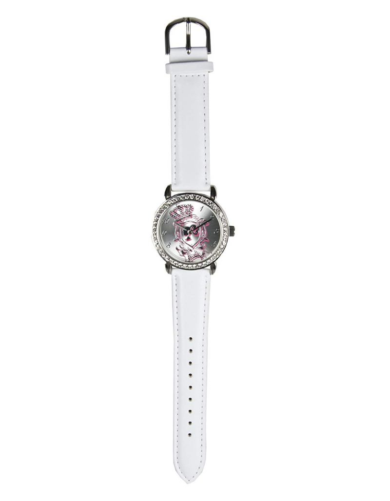Barbie Girls White Strap Analogue Watch 251021L With Stone Set Case