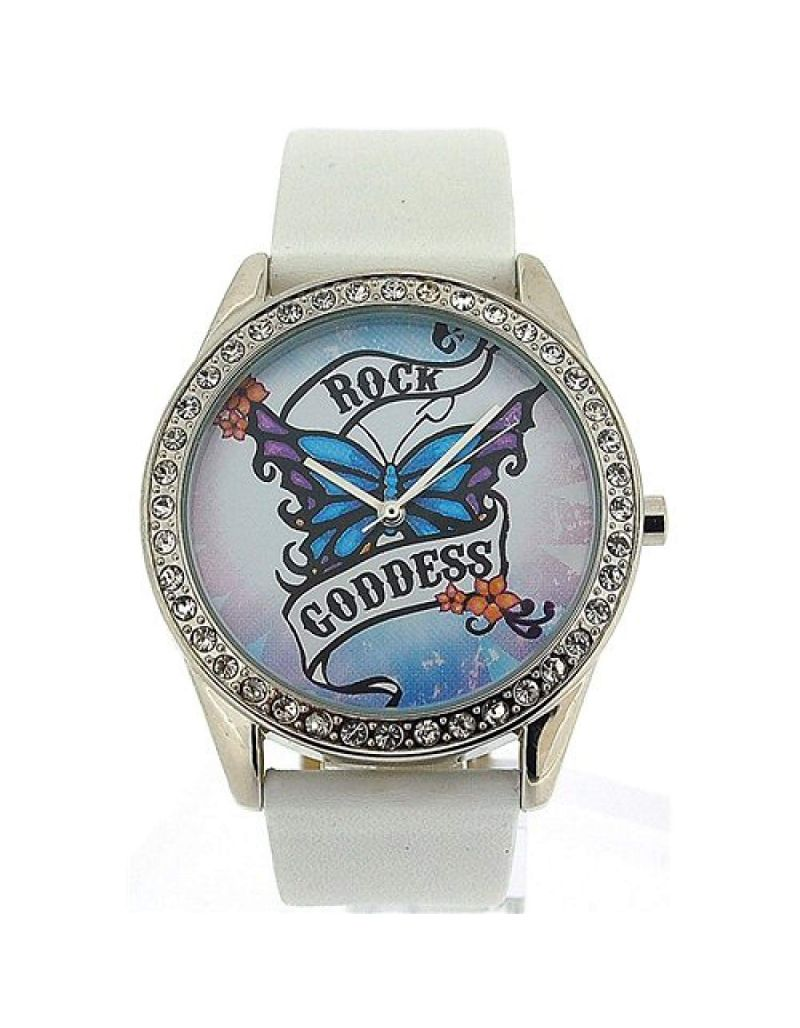 Pink Cookie Ladies-Girls Analogue White Dial & White PU Strap Watch PCL-0013