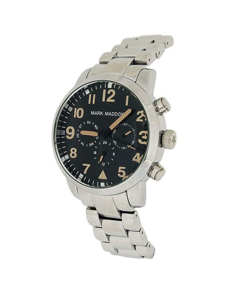 Mark Maddox Gents Multifunction Black Dial & Bracelet Strap Watch HM3004-54