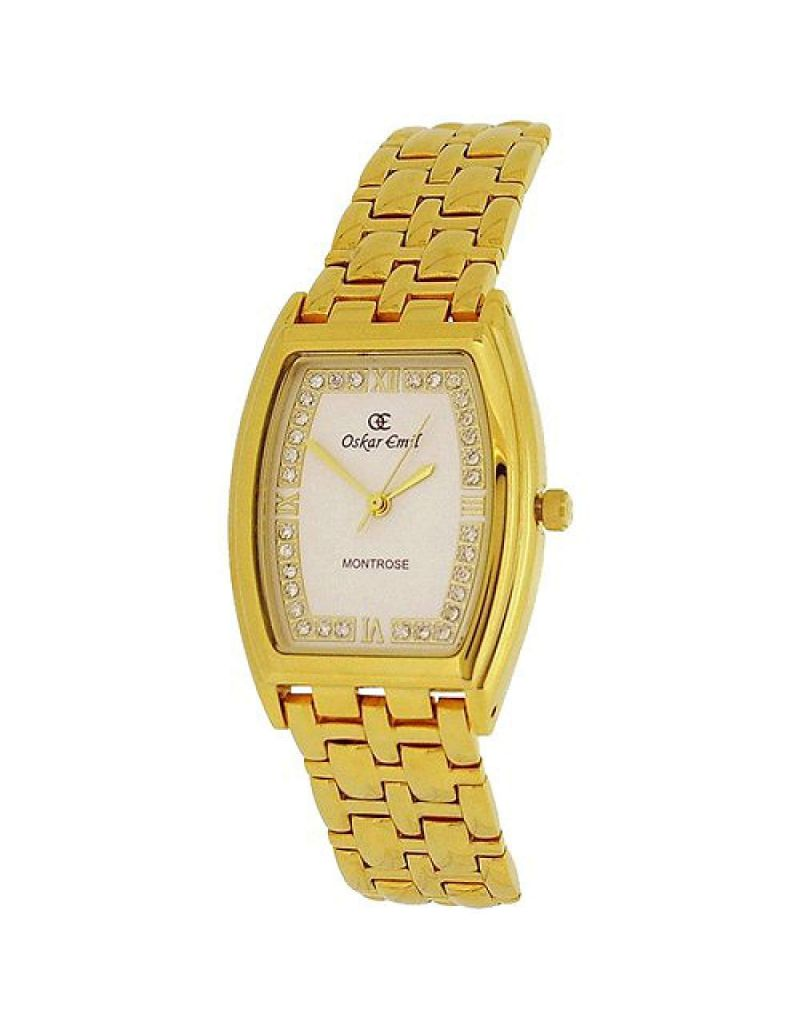 Oskar Emil Montrose Unisex Gents Ladies 23k Gold Plated Stainless Steel Watch