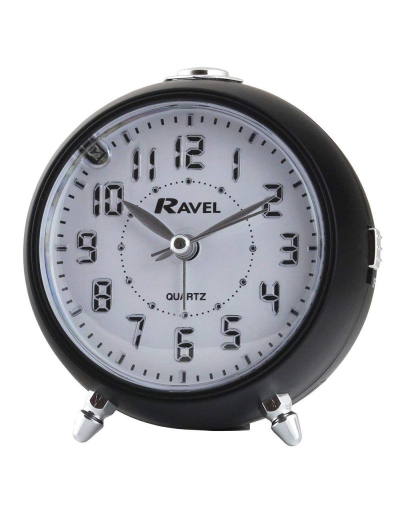 Ravel Quartz LED Silent Sweep Snooze Light, Crescendo, Beep Alarm Clock RC006.03