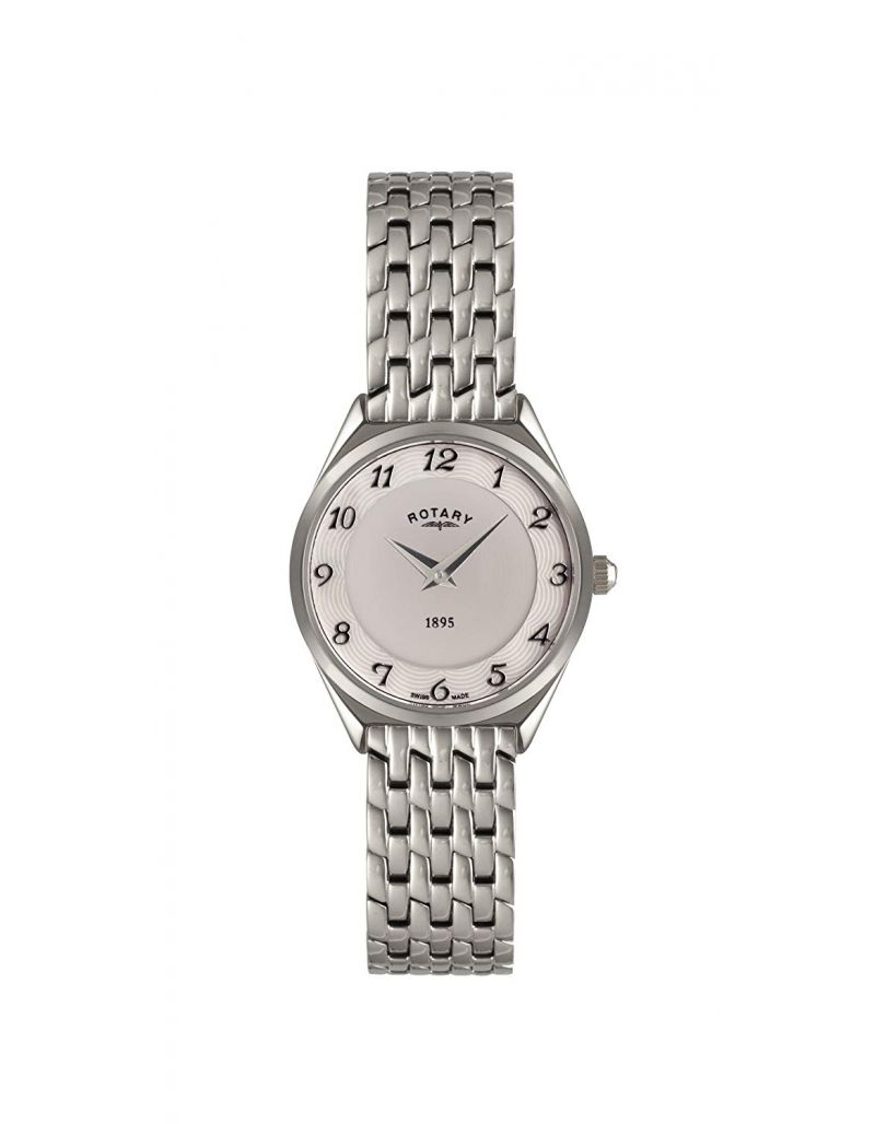Rotary Ladies Mother of Pearl Dial Stainless Steel Strap Watch LB08000/18
