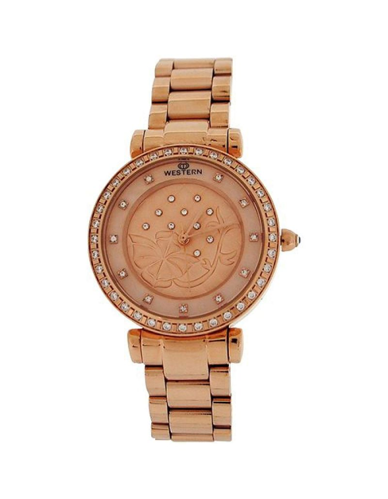 Western Moments Ladies Beaut  Rosegold Tone Dial All Stainless Steel Smart Watch