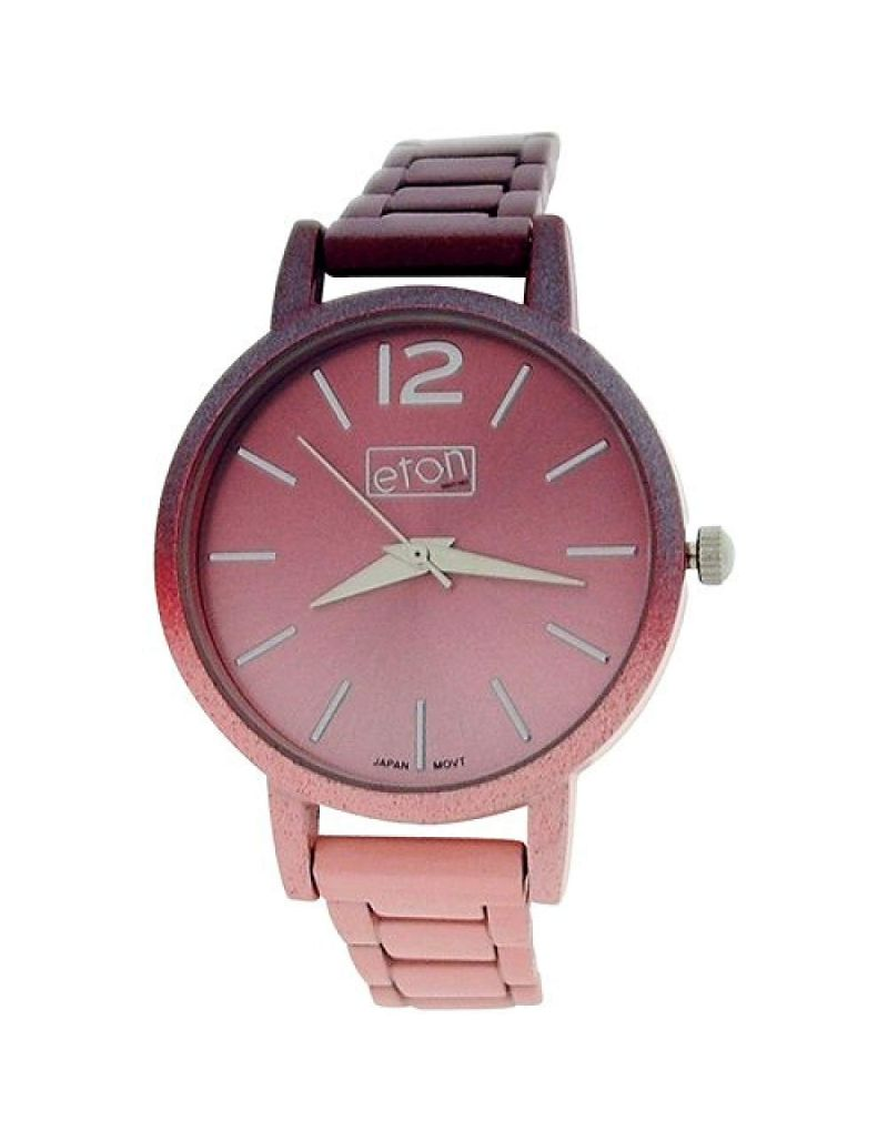 Eton Ladies Analogue Pink Shaded dial & Shaded Plated Bracelet Strap Watch 3263L