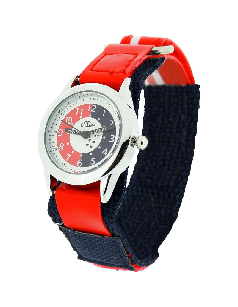 10X Bulk For School Relda Time Teacher Red / Navy Kids Childrens Watch + Award