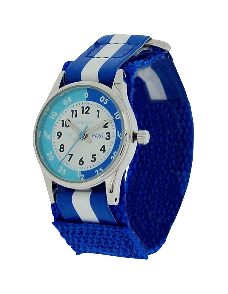 10X Bulk For School Reflex Time Teacher Kids Boy Blue Easy Fasten Watch REFK0001