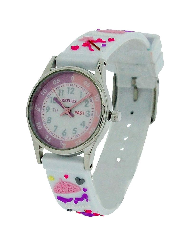 10X Bulk For School Reflex Time Teacher Girl Kids White Princess  Watch REFK0010