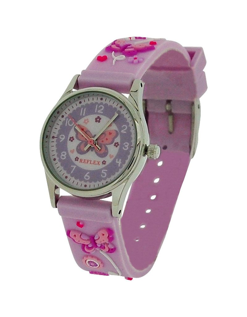 10X Bulk For School Reflex Time Teacher Girls Kids Pink Butterfly Watch REFK0012