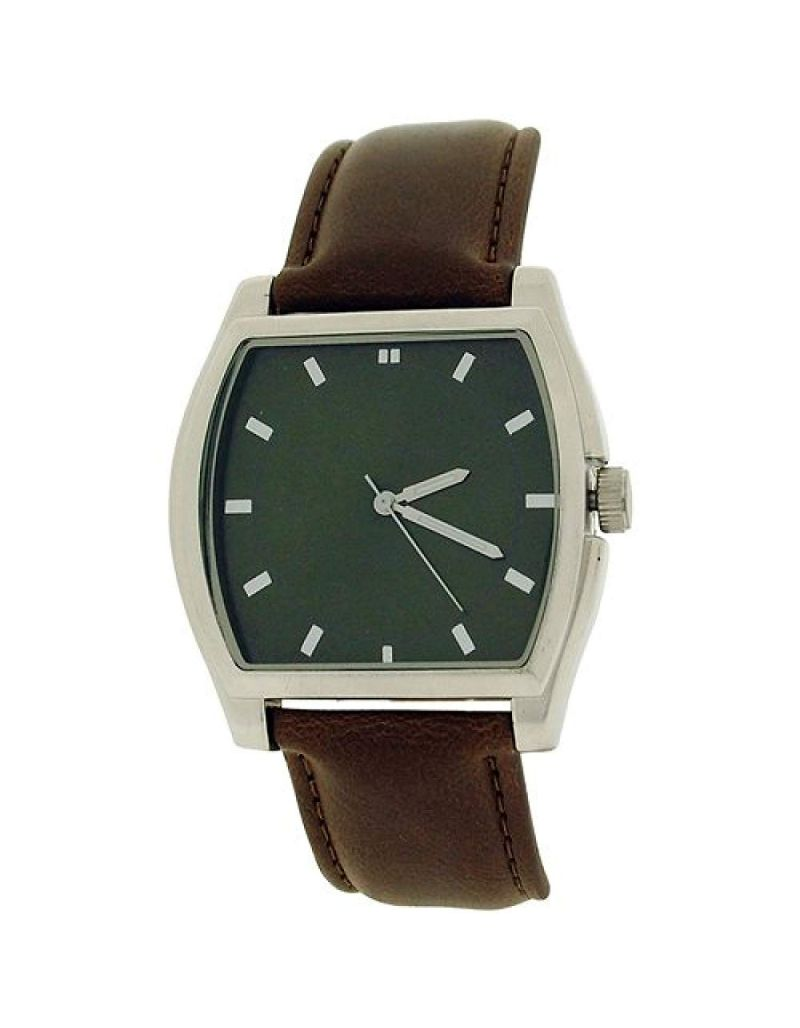 Ben Sherman Gents Analogue Translucent Green Dial Brown Pu Strap Watch BS043